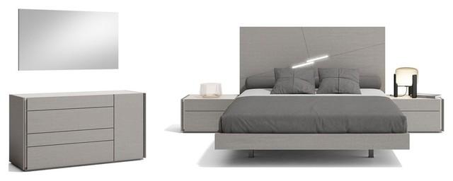 Faro Premium 5 Piece Bedroom Set Grey King Modern Bedroom Furniture Sets By Bedtimenyc Houzz