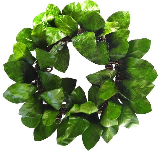 """24"""" Magnolia Leaf Wreath."""