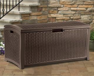 99 Gallon Wicker Deck Box, Brown