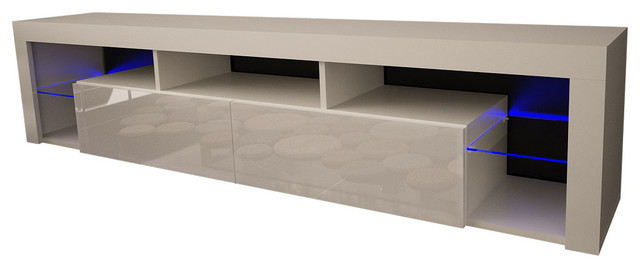 """TV Stand Milano 200 LED Wall Mounted Floating 79"""" TV Stand, White"""