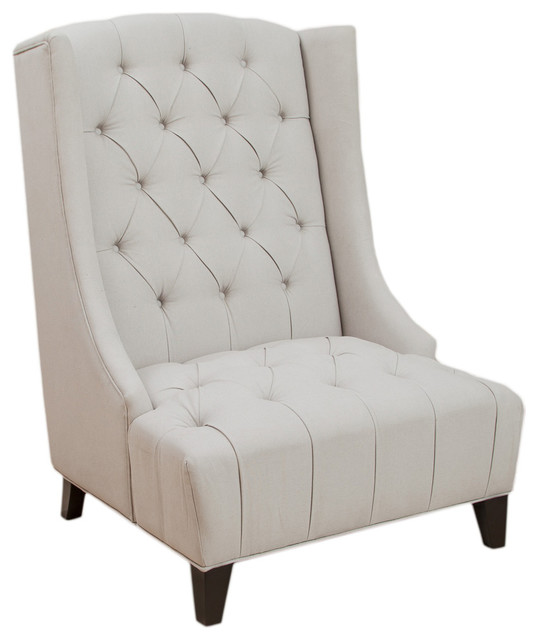 Winger Wingback Accent Chair Transitional Armchairs And Accent Chairs
