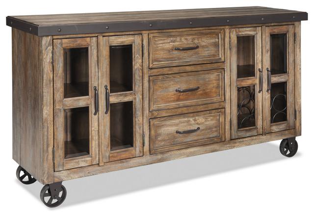 Intercon Furniture Taos Sideboard in Canyon Brown