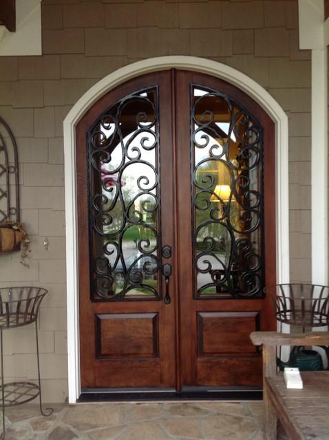 Wrought Iron Door Insert Traditional