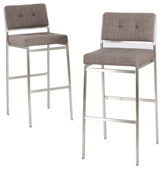julia fabric barstool set of 2 contemporary bar stools and rh houzz com Light Gray Chairs Modern Gray Chair