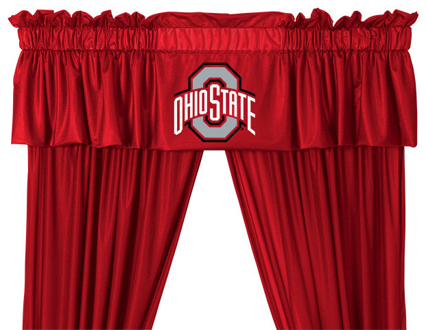 valance ohio st valances by sports coverage. Black Bedroom Furniture Sets. Home Design Ideas