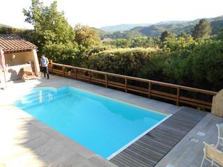 Rambarde de piscine montagne saint tienne par jc entreprise - Piscine carrelage blanc saint etienne ...