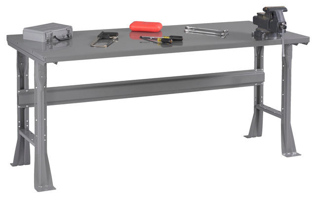 Steel Top Workbench With Flared Legs - Industrial - Garage And Tool Storage - by Tennsco Corp