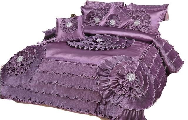 Victoria 5 Piece Satin Comforter Set Cal King