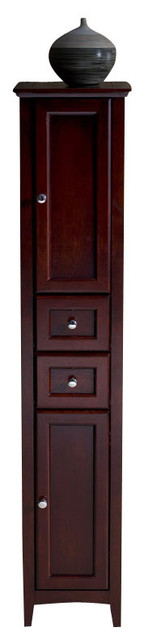 Fresca Oxford Mahogany Tall Bathroom Linen Cabinet.