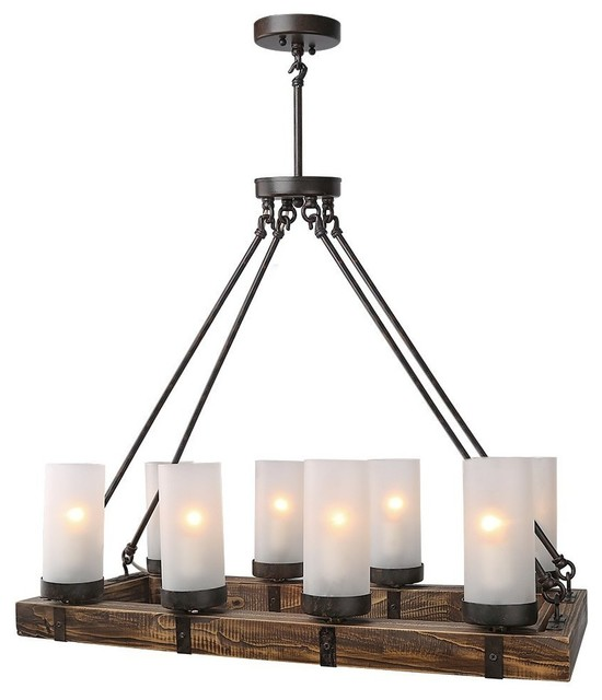 Lightingworld Industrial Style Wood Chandeliers For
