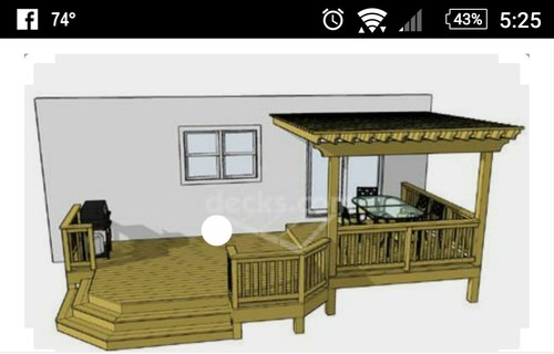 Beautiful Stairs Or Ramp For Deck