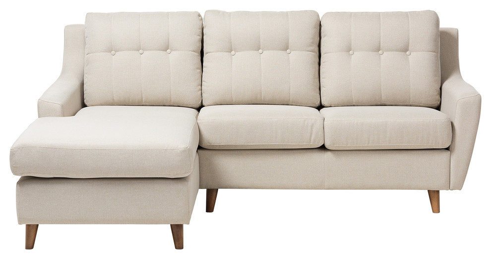 On Tufted 2 Piece Sectional Sofa
