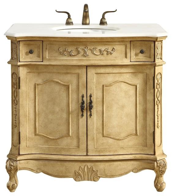 Elegant Danville 36 Single Bathroom Vanity Set Antique Beige Victorian Bathroom Vanities And Sink Consoles By Better Living Store Houzz