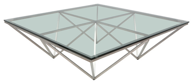 Troy Origami Glass-Top Coffee Table