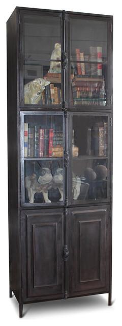 Victor Industrial Loft Iron 6 Door Cabinet Curio.