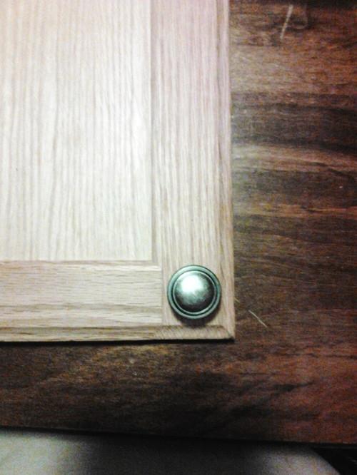cabinet door knob placement. Black Bedroom Furniture Sets. Home Design Ideas