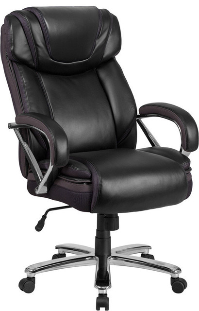 Leather Office Chair, Black.