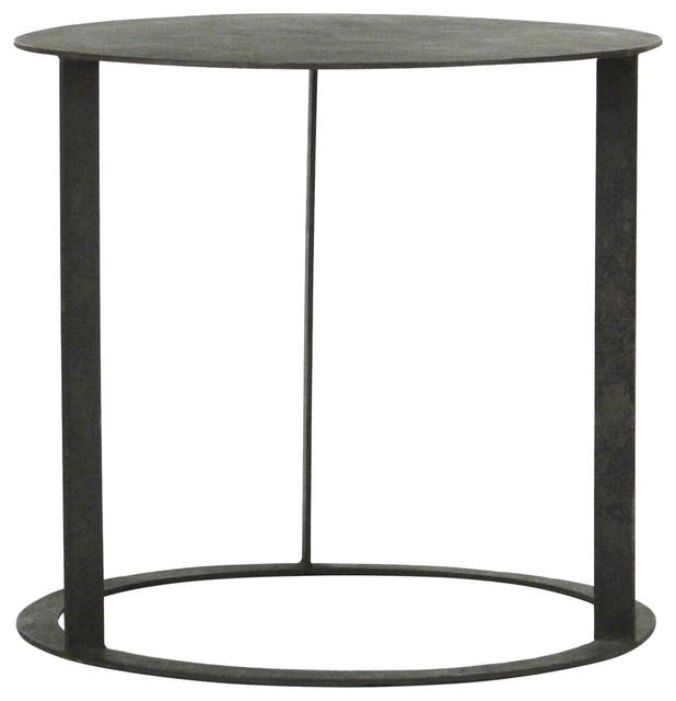 Kalil Side Table Distressed Black