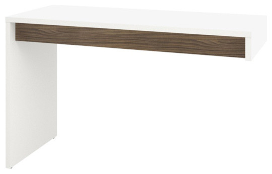 Liber-T Reversible Desk Panel 211303 From Nexera, White/walnut.
