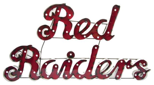 Illuminated Texas Tech Red Raiders Recycled Metal Wall Decor ...