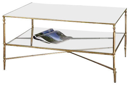 Uttermost Henzler Mirrored Glass Coffee Table Traditional Coffee Tables