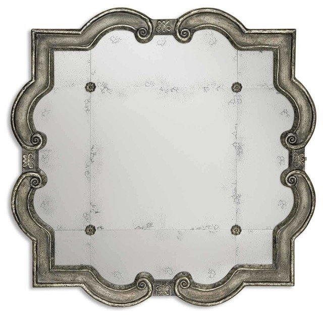 Uttermost Prisca Distressed Silver Mirror Small.