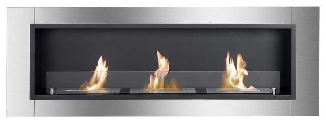 Ardella, Recessed Ethanol Fireplace.