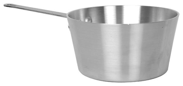 5 1/2 Qt. Aluminum Sauce Pan, Mirror Finish.
