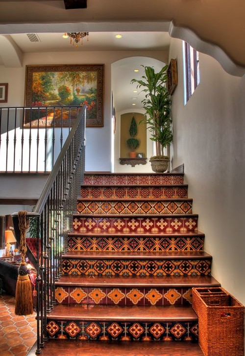 Genial Talavera Tile On Stair Risers