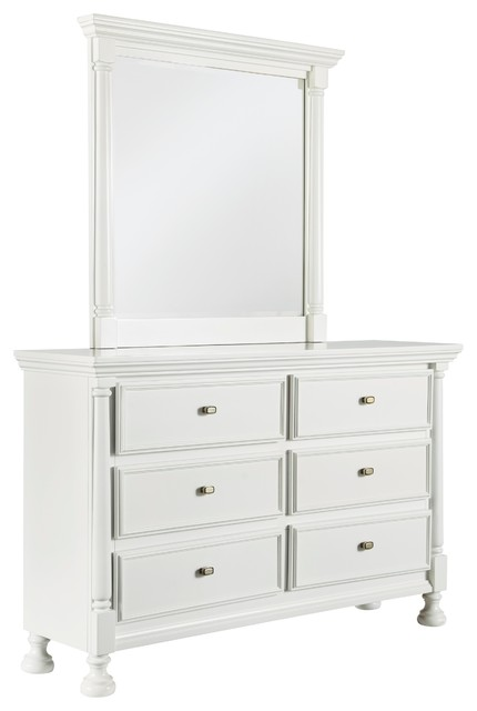 Ivy Inn 6 Drawer Dresser And Mirror.