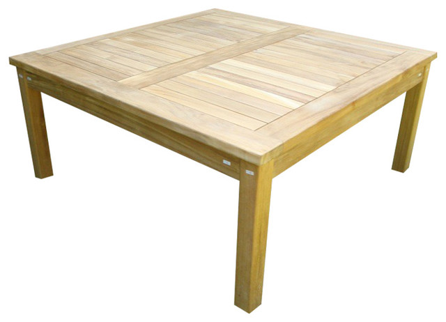 "40"" cape cod square coffee table, grade a teak - craftsman"