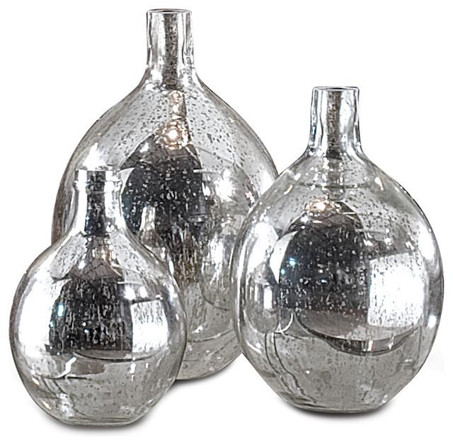 Whitney Hollywood Regency Mercury Glass Sphere Wine