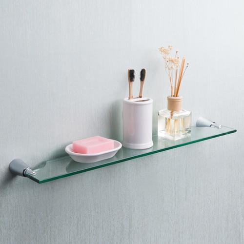 Maykke DLA1100101 Soma Glass Shelf, Polished Chrome · More Info