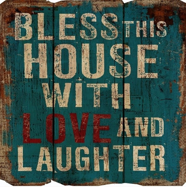 Rustic Decor Bless This House Wood Sign Traditional Novelty Signs