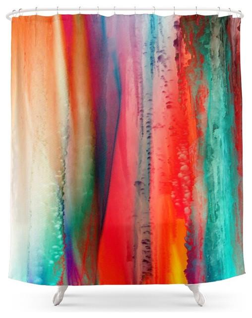 Society6 Ice Curtain Shower Curtain