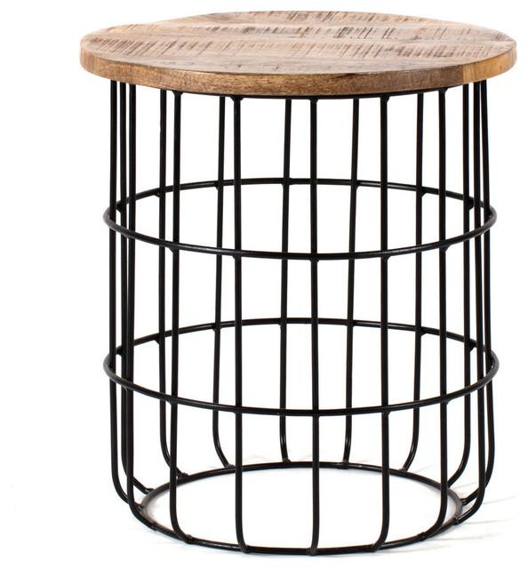 Auxon Designer Cage Side Table