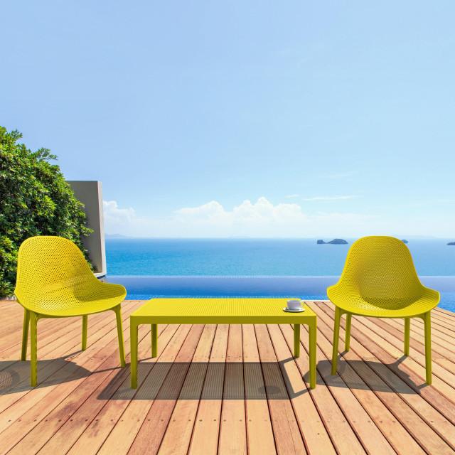 Compamia Sky Lounge 3-Piece Set, Yellow