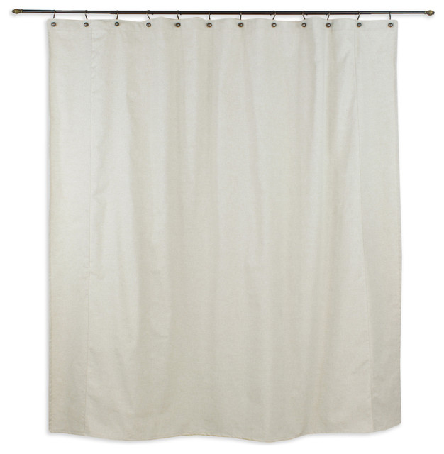 Linen Natural Shower Curtain Beige