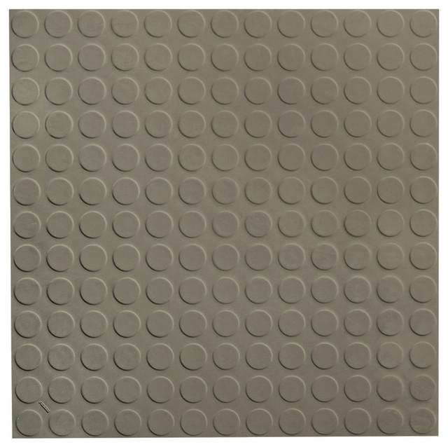 "ROPPE 19.69""x19.69"" Vantage Circular Profile Rubber Tile, Lunar Dust"