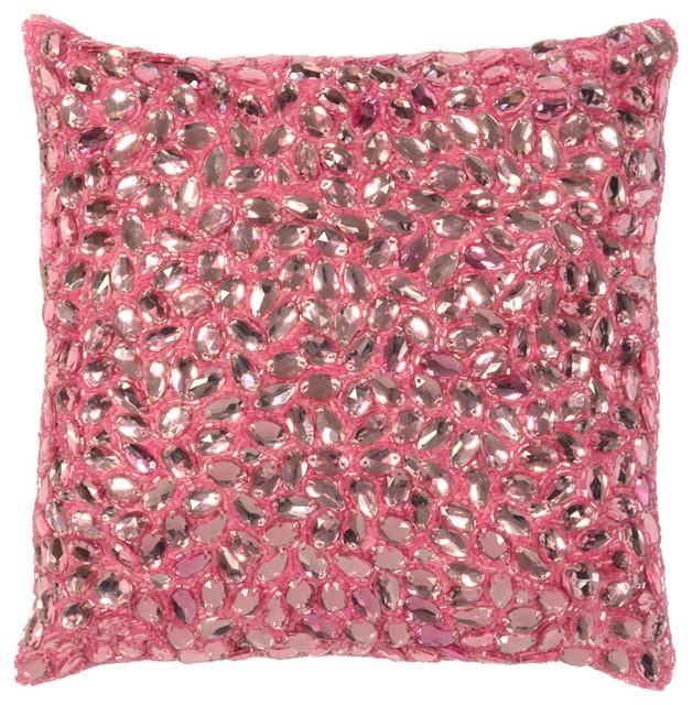 Jessica Navy Gray Jeweled Hand Beaded Pillow 40x40 Contemporary Classy 10x10 Decorative Pillows