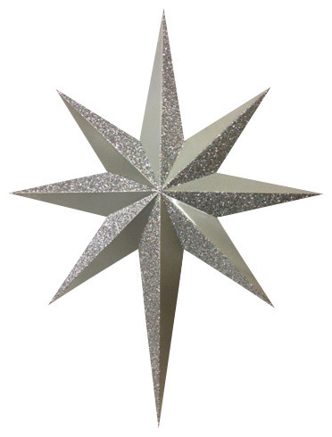 Silk Plants Direct Glittered North Star Ornament, Pack of 1 ...