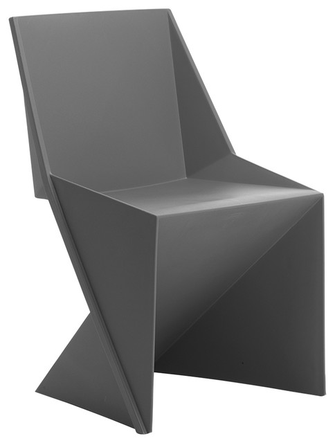 Freedom Visitor Stackable Indoor/Outdoor Chair, Charcoal