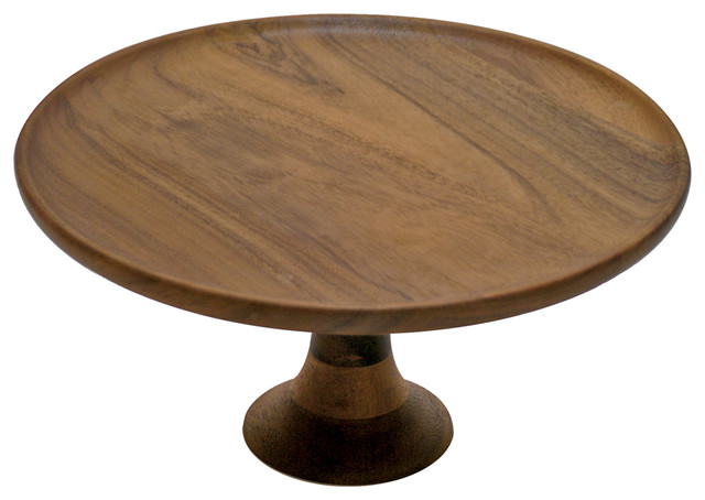Acacia Cake Stand  sc 1 st  Houzz & Acacia Cake Stand - Rustic - Dessert And Cake Stands - by Be Home