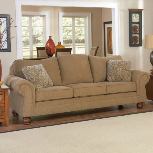Merveilleux Charles Schneider Hurst Chestnut Fabric Sofa With Accent Pillows