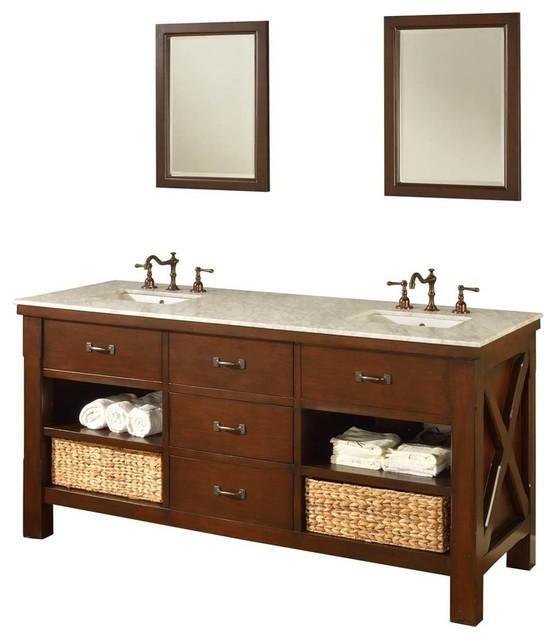 xtraordinary spa 70 dark brown vanity craftsman bathroom rh houzz com 70 bathroom vanity single sink 70 bathroom vanity cabinet