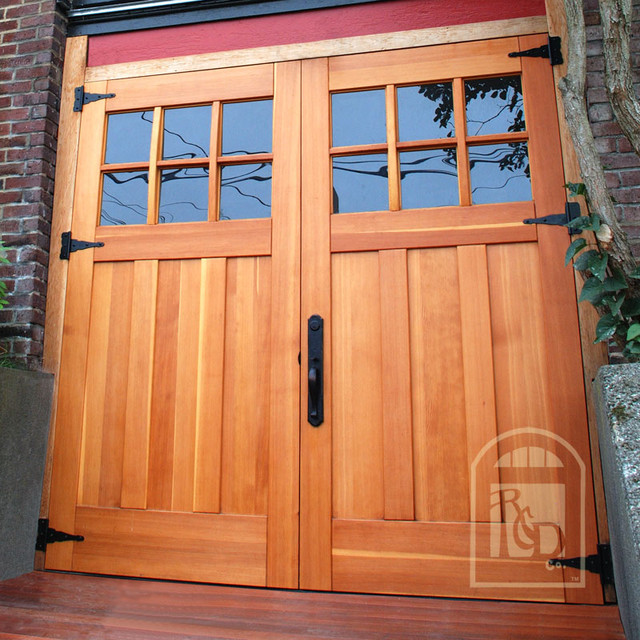 Real carriage doors garage doors and openers by real for Sliding carriage doors