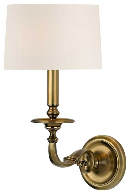 Hudson Valley Whitmire 1 Light Wall Sconce in Aged Brass - Traditional - Wall Sconces - by ...