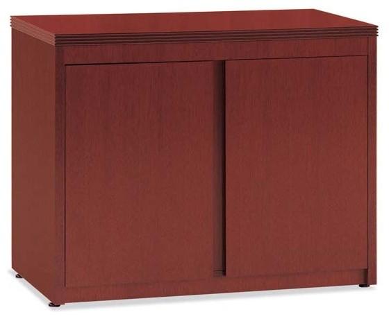 Two Door Storage Cabinet, Mahogany, 21x36.
