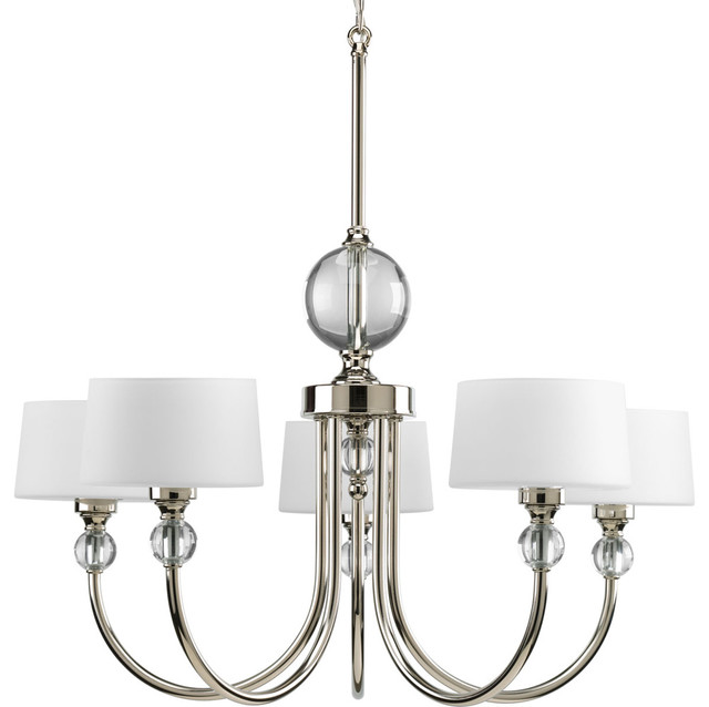 progress lighting p4674104 5light chandelier with opal etched glass drum shade