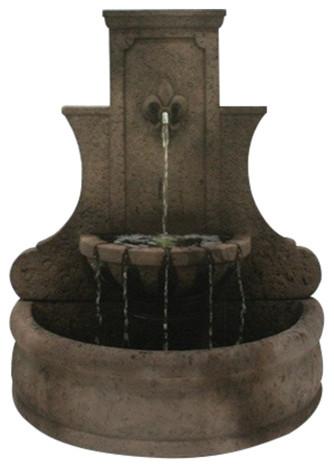 Fleur De Lis Wall Garden Water Fountain